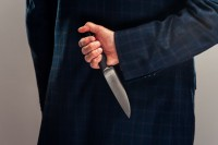 Temporary Ladykillers poster image - hand holding knife